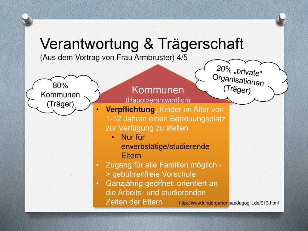 Verantwortung & Trägerschaft (Aus dem Vortrag von Frau Armbruster) 4/5