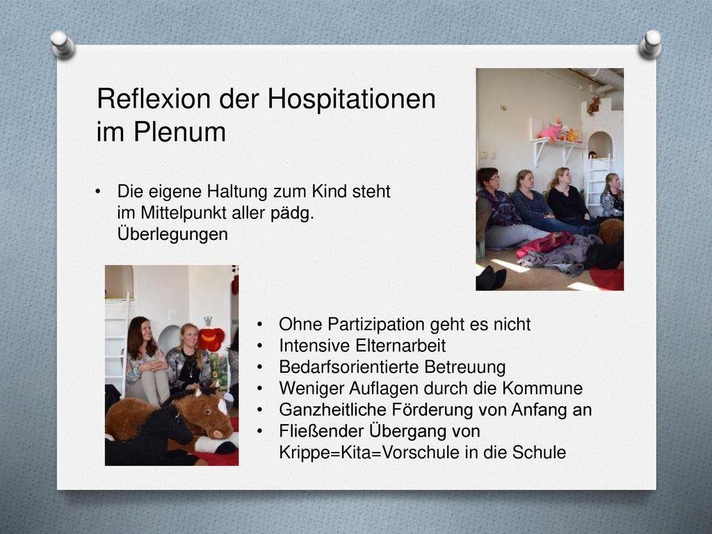 Reflexion der Hospitationen im Plenum