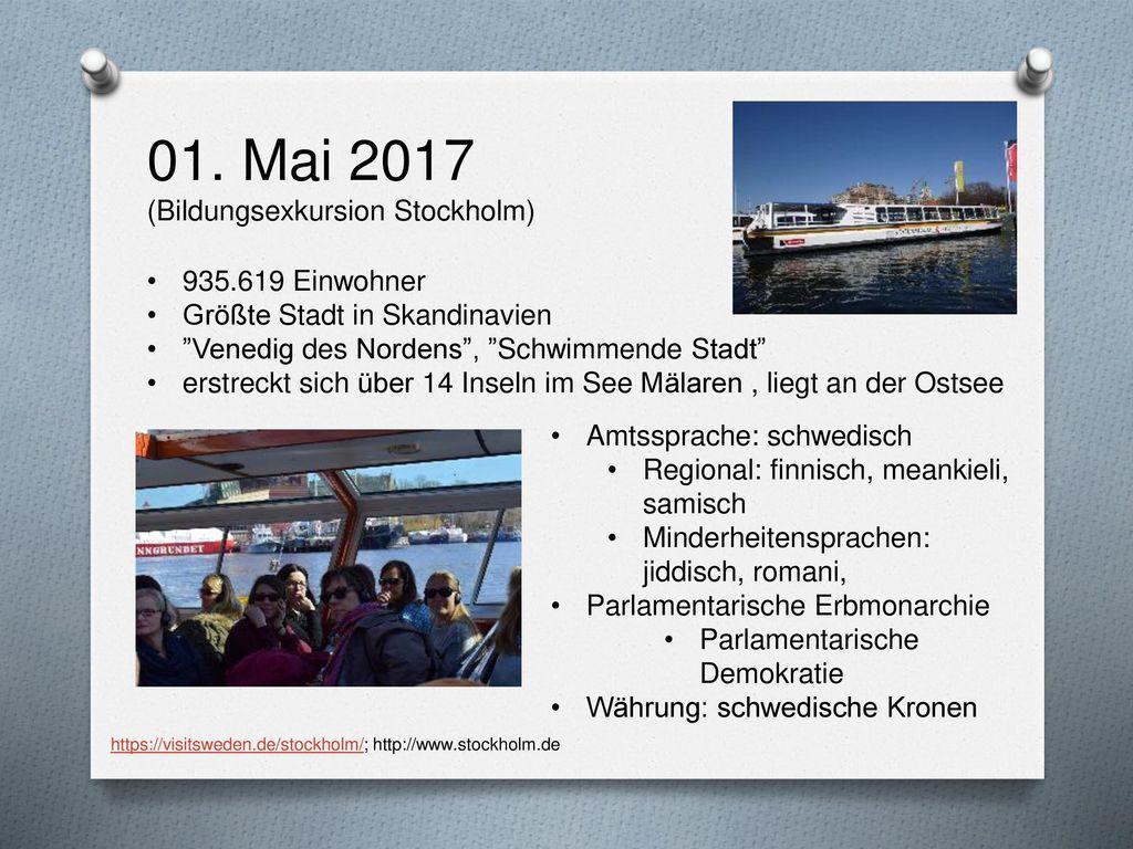 01. Mai 2017 (Bildungsexkursion Stockholm)
