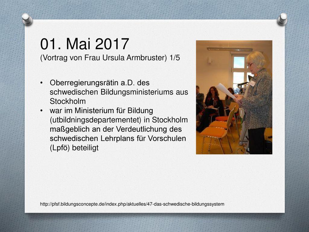 01. Mai 2017 (Vortrag von Frau Ursula Armbruster) 1/5