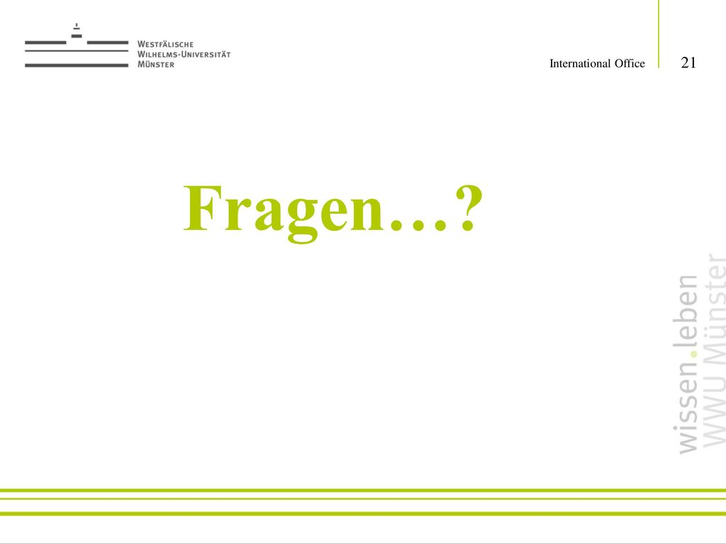 International Office Fragen…