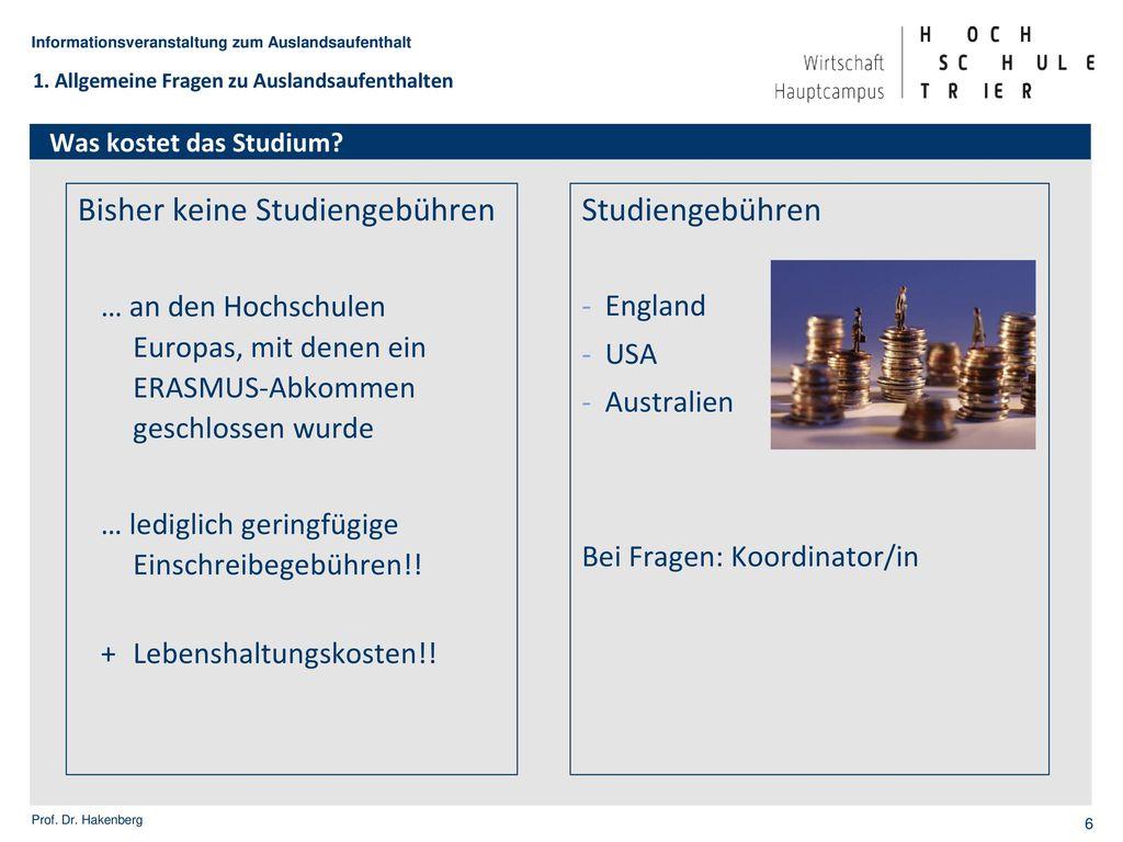 BW/WI - Auslandsstudium anstatt Praxisprojekt
