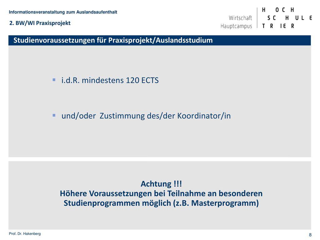IB - ganzjähriges Studium (60 ECTS)