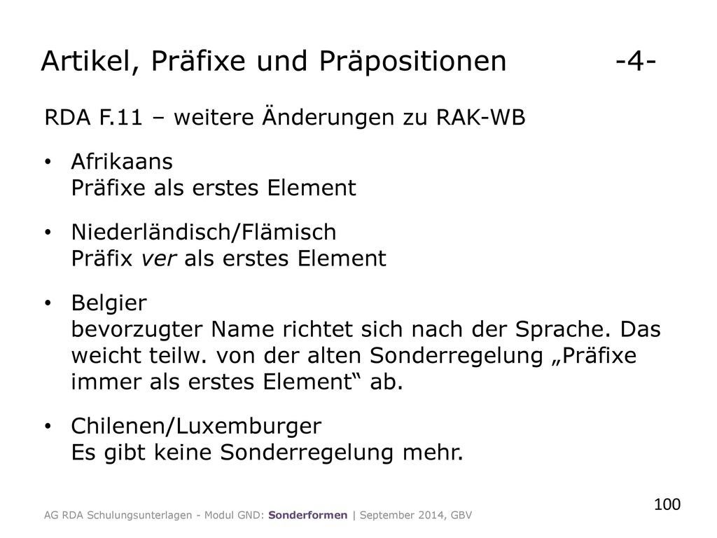 Artikel, Präfixe und Präpositionen -4-