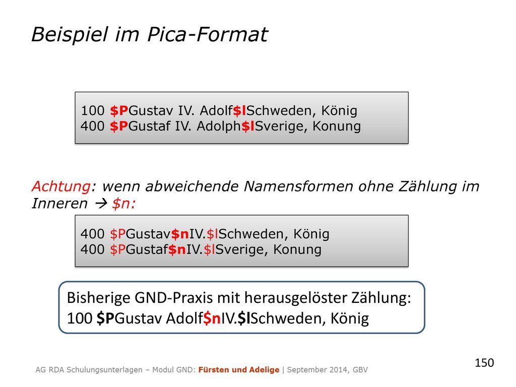 Beispiel im Pica-Format