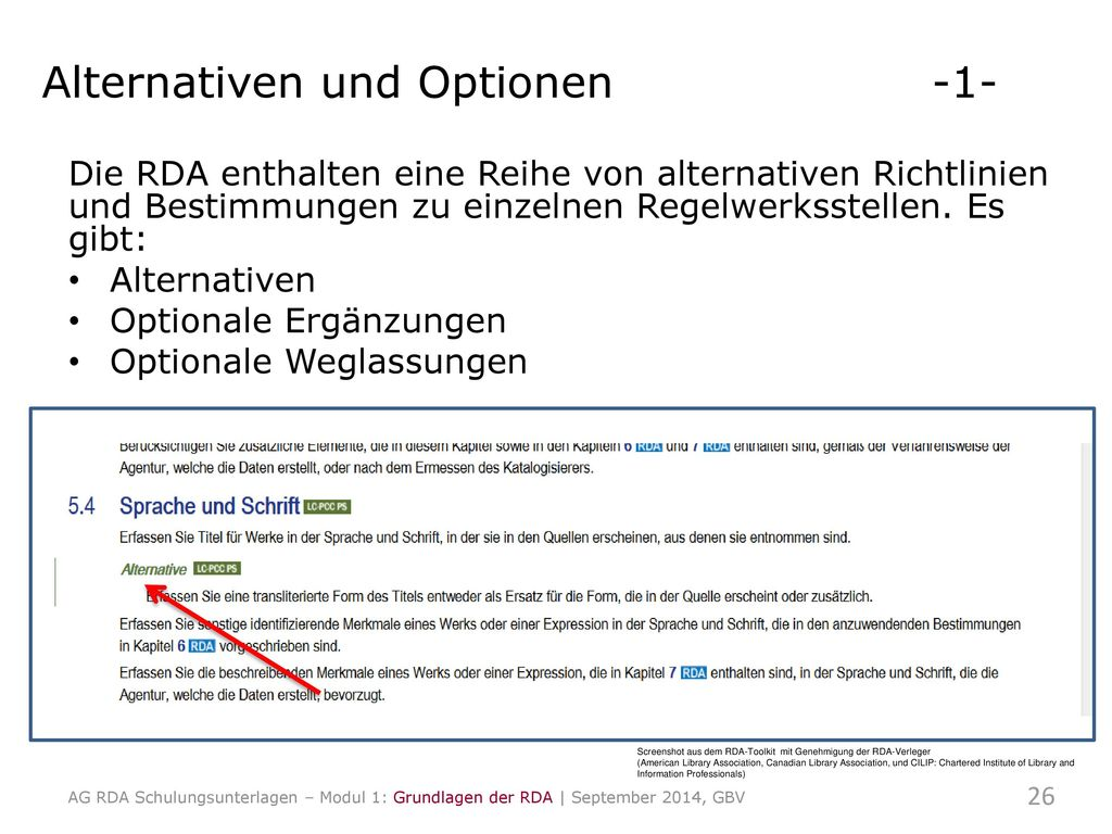 Alternativen und Optionen -1-
