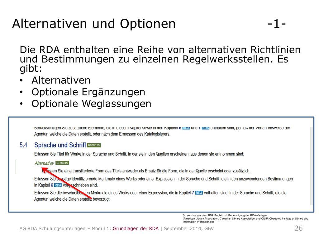 Alternativen und Optionen -1-