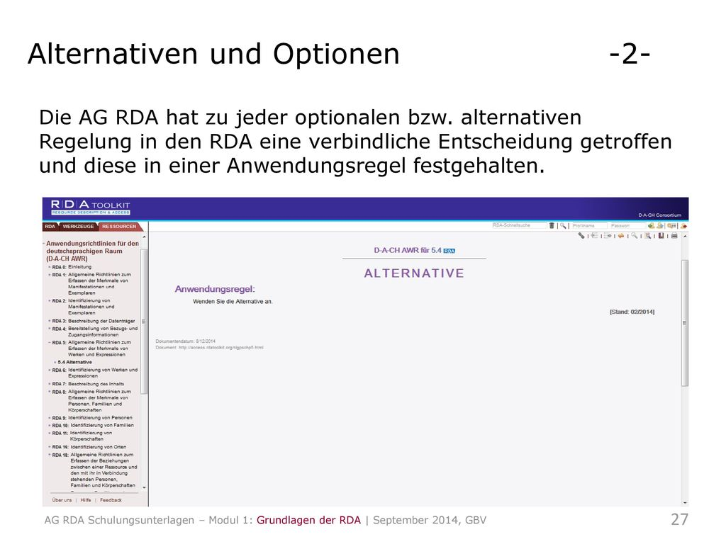 Alternativen und Optionen -2-