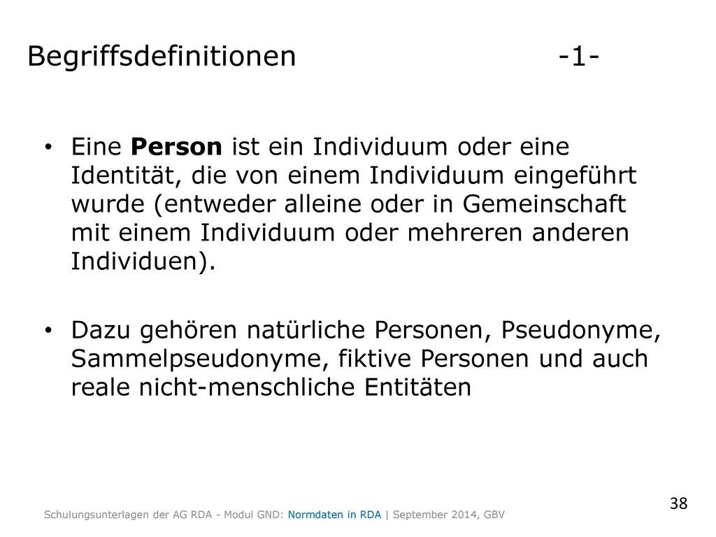 Begriffsdefinitionen -1-