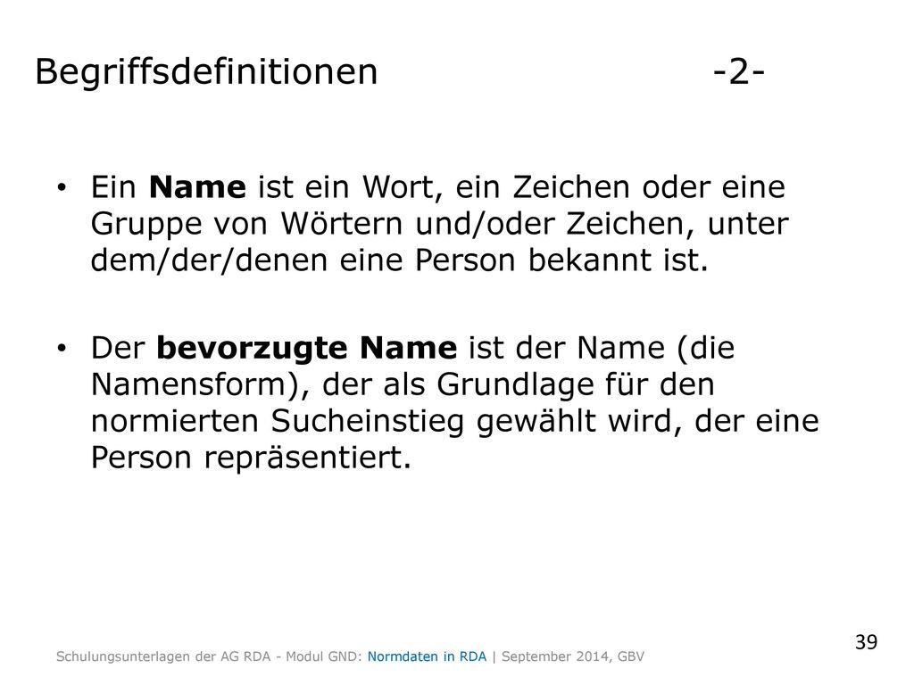 Begriffsdefinitionen -2-
