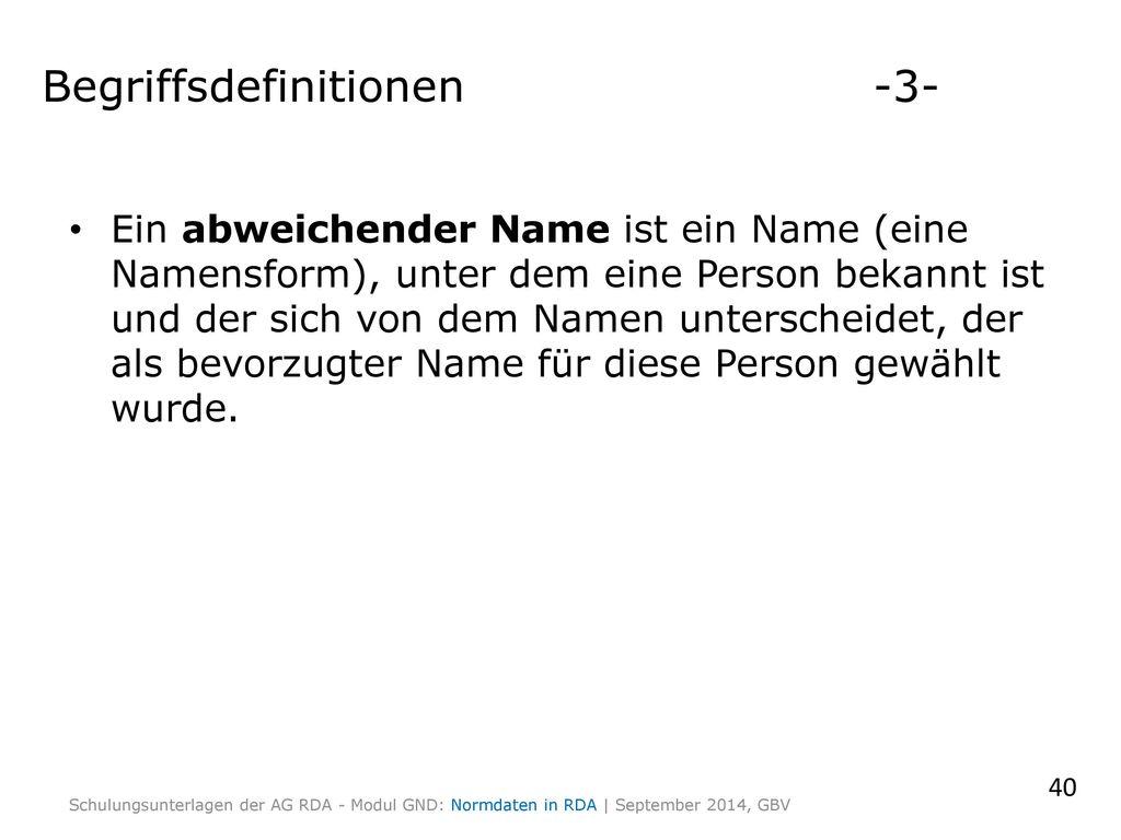 Begriffsdefinitionen -3-