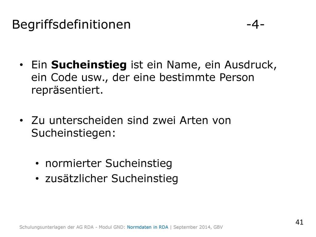 Begriffsdefinitionen -4-