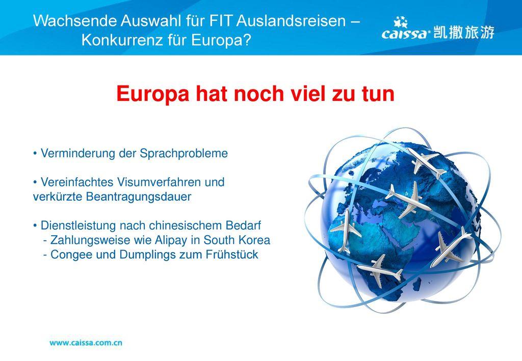 Wachsende Auswahl für FIT Auslandsreisen – Konkurrenz für Europa