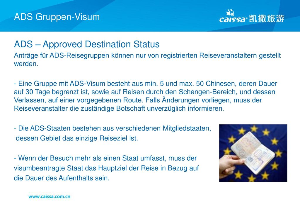 ADS – Approved Destination Status