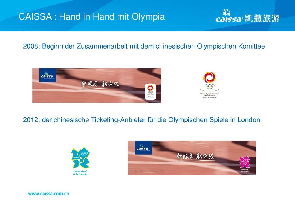 CAISSA : Hand in Hand mit Olympia