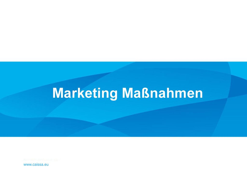 Marketing Maßnahmen www.caissa.eu