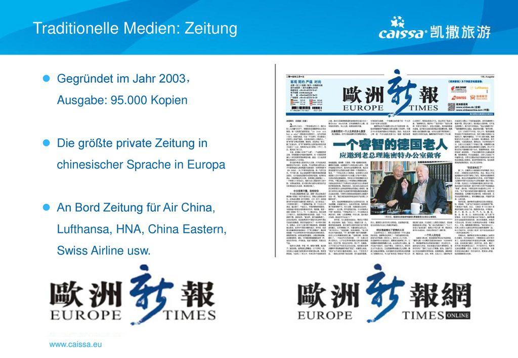 Traditionelle Medien: Zeitung
