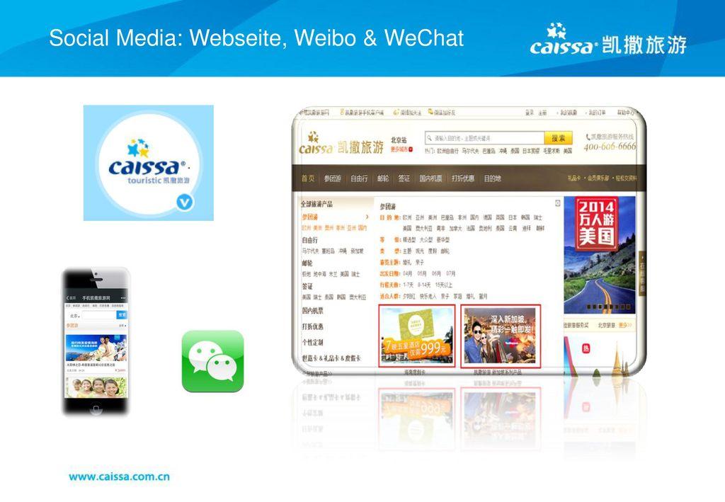 Social Media: Webseite, Weibo & WeChat