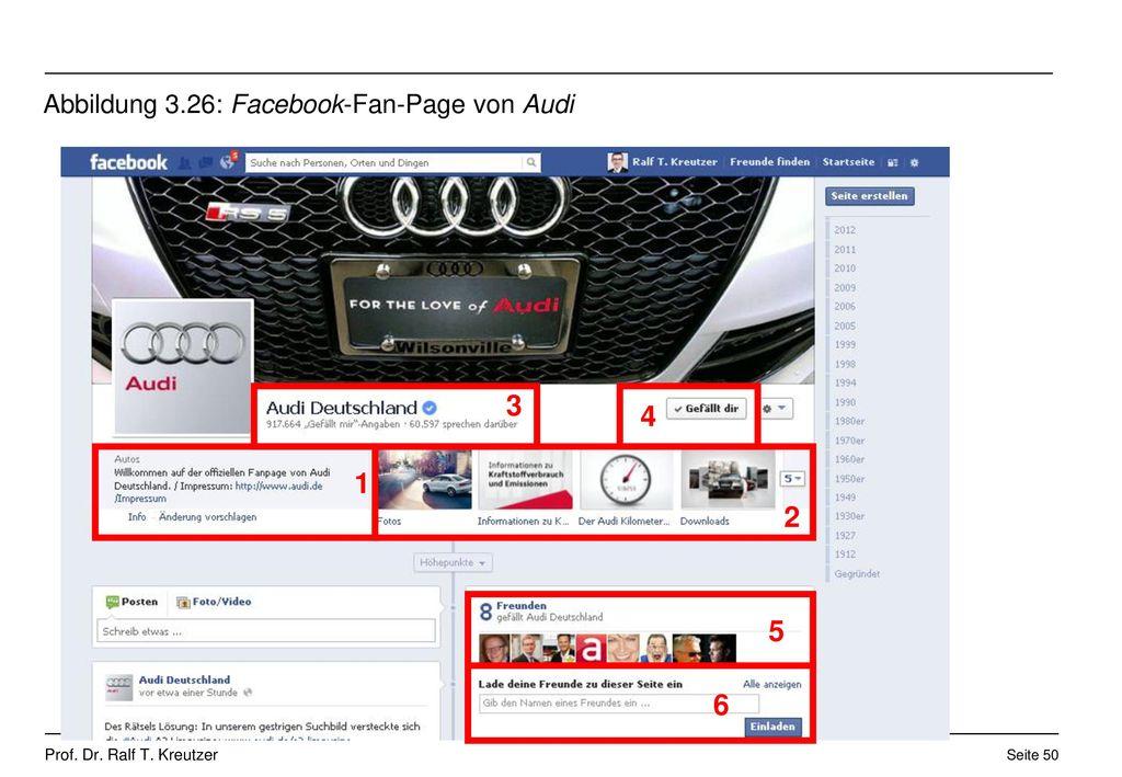 Abbildung 3.26: Facebook-Fan-Page von Audi