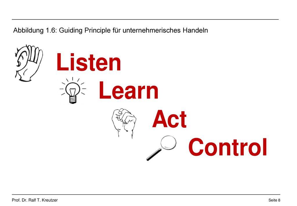 Abbildung 1.6: Guiding Principle für unternehmerisches Handeln