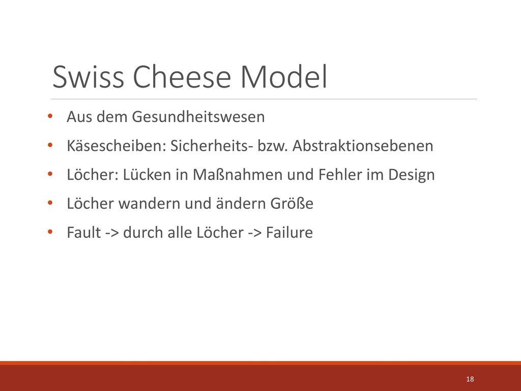 Swiss Cheese Model Aus dem Gesundheitswesen