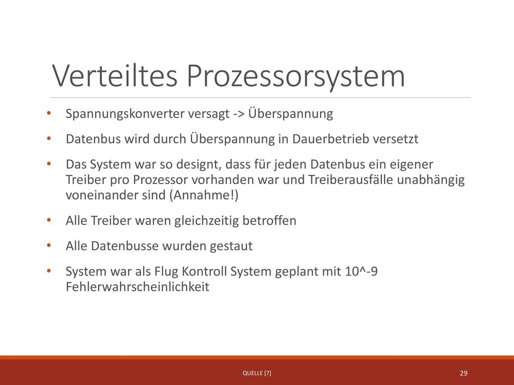 Verteiltes Prozessorsystem