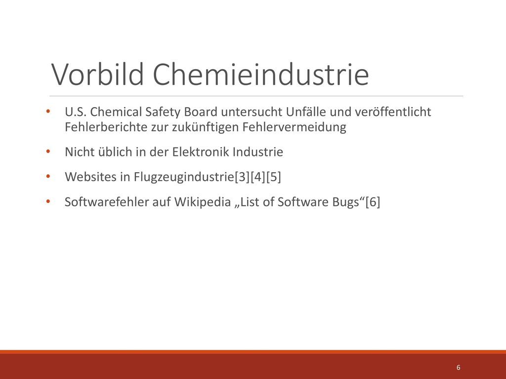 Vorbild Chemieindustrie