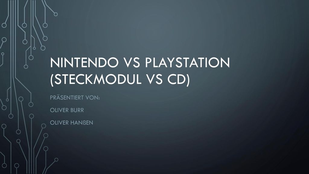 Nintendo vs Playstation (Steckmodul vs CD)