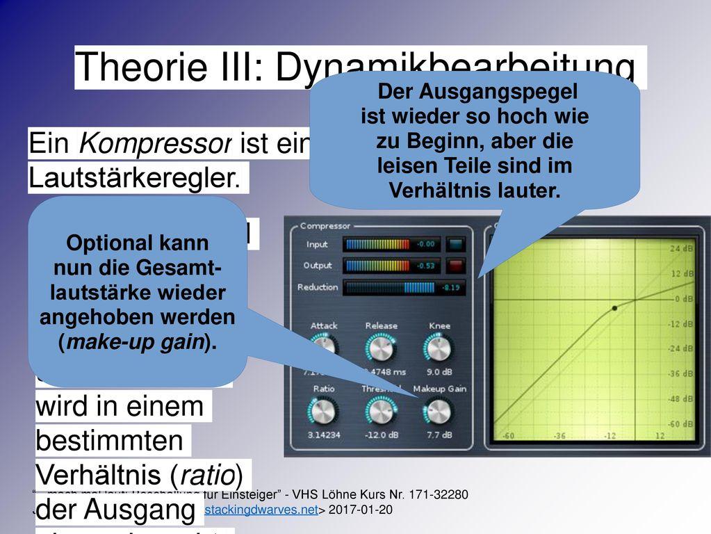 Theorie III: Dynamikbearbeitung