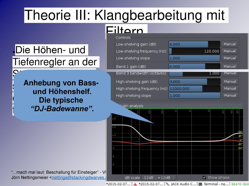 Theorie III: Klangbearbeitung mit Filtern