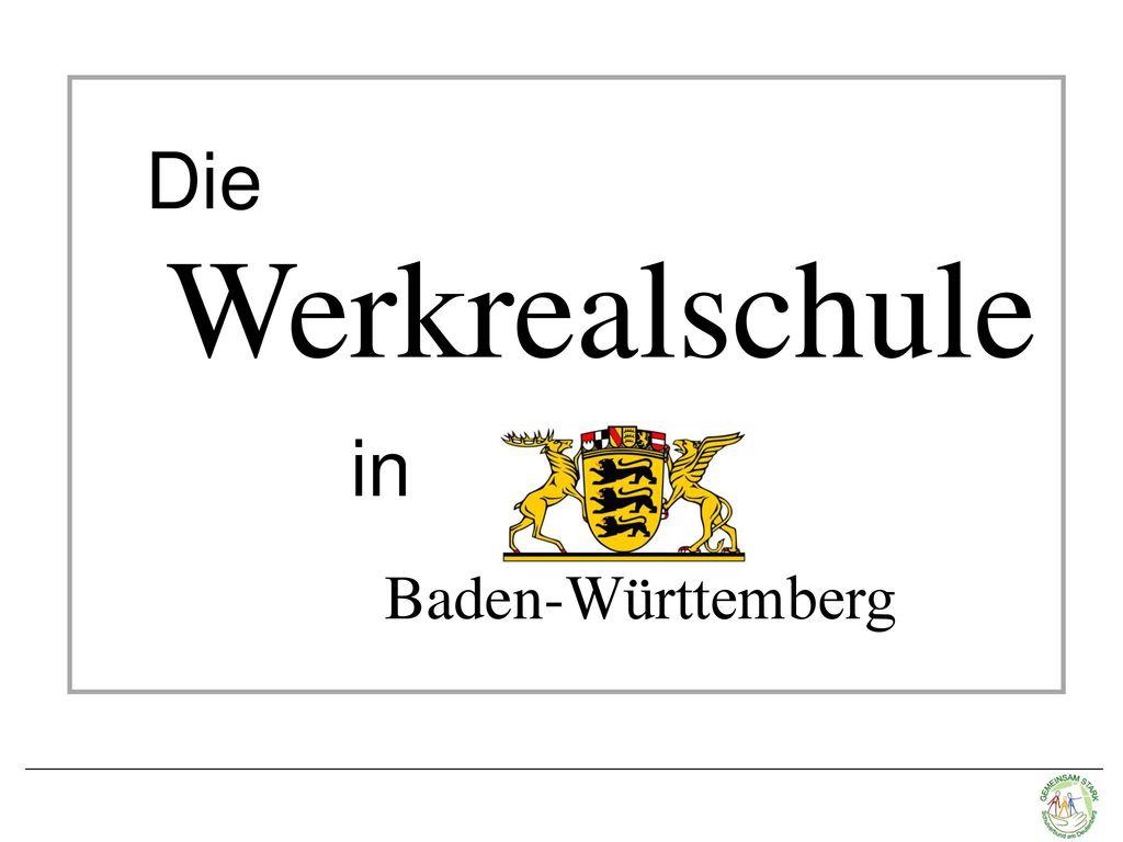 Die Werkrealschule in Baden-Württemberg