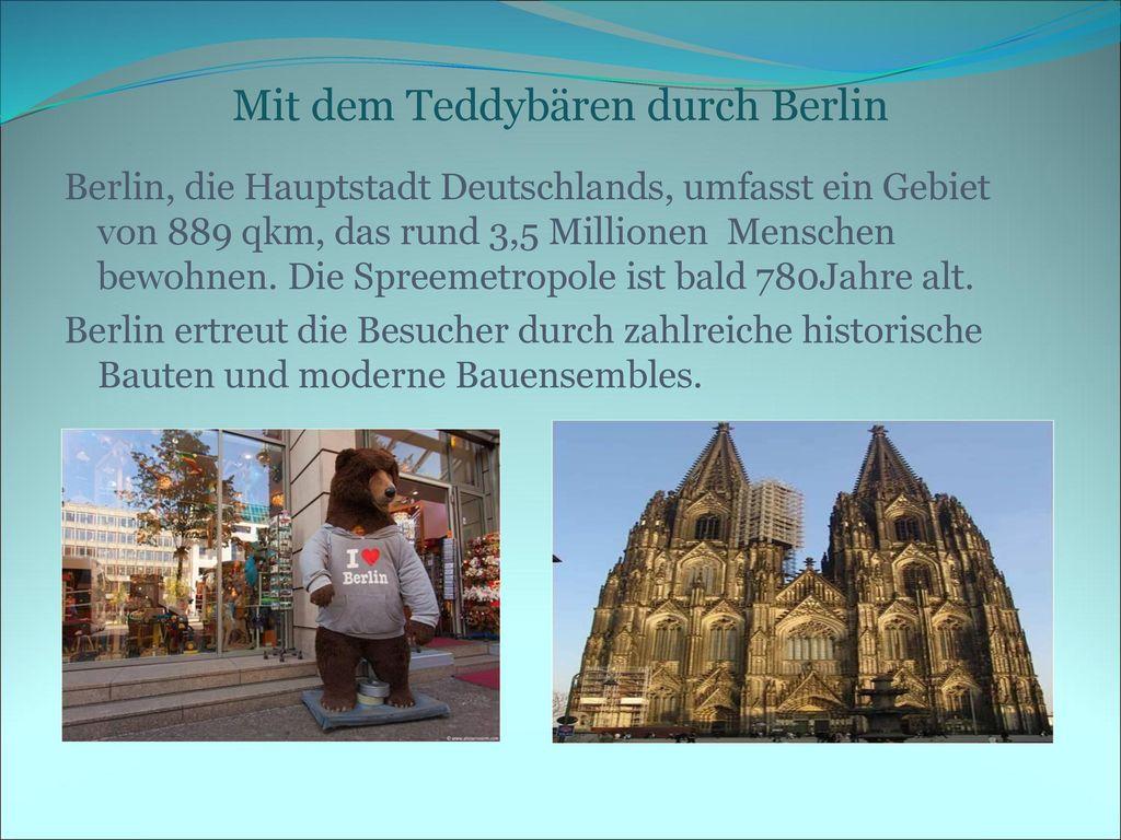 Mit dem Teddybären durch Berlin