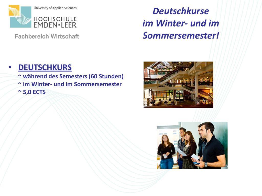 Deutschkurse im Winter- und im Sommersemester!