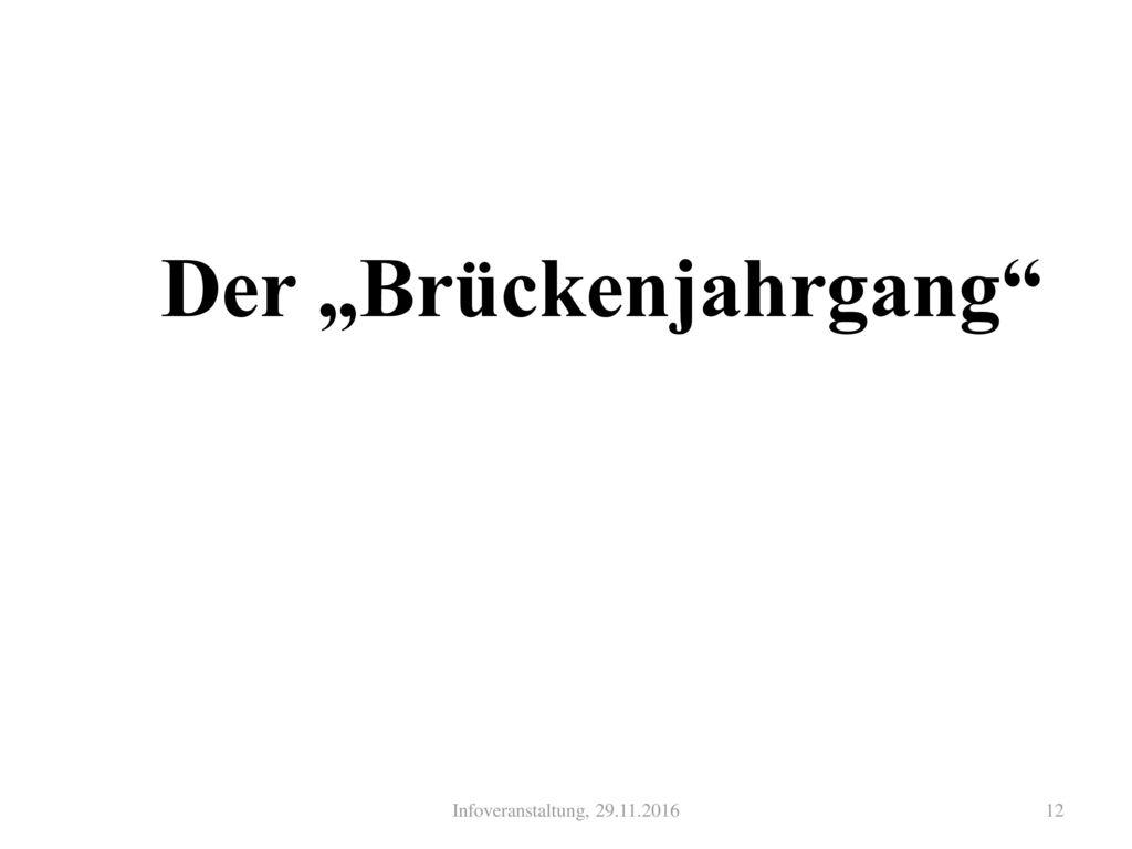 """Der """"Brückenjahrgang"""