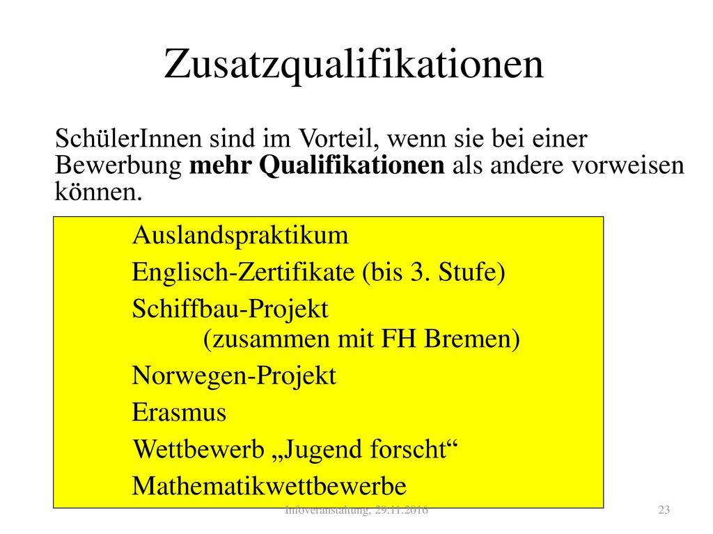 Zusatzqualifikationen
