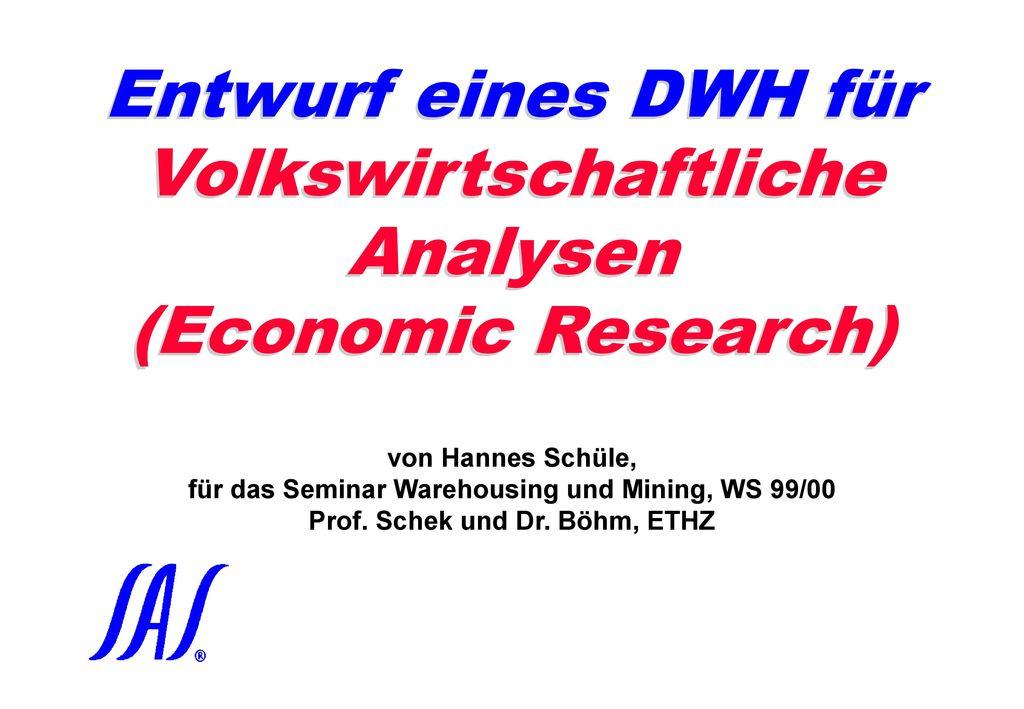 Schüle / Locher: Raum-zeit-thematisches Forschungs-DWH für SAS-Datawarehousing 98, Zürich, 25. November 1998