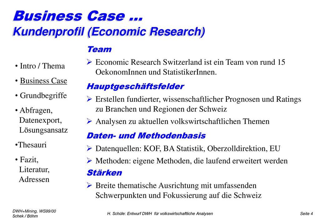 Business Case ... Kundenprofil (Economic Research)