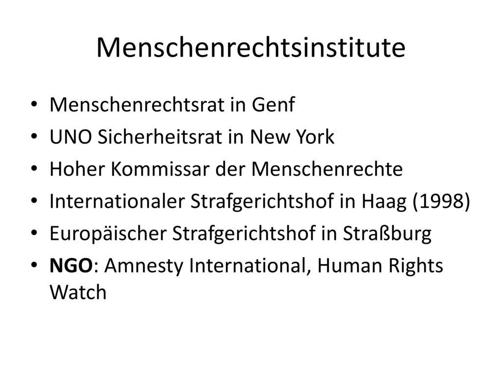 Menschenrechtsinstitute