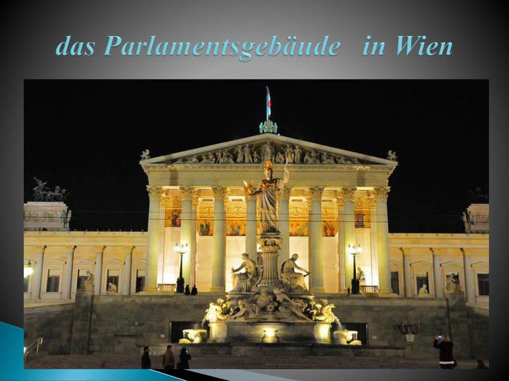 das Parlamentsgebäude in Wien