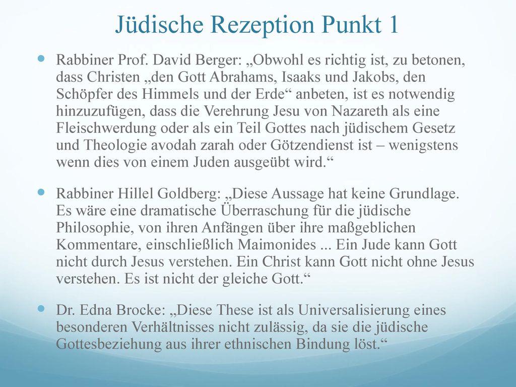 Jüdische Rezeption Punkt 1