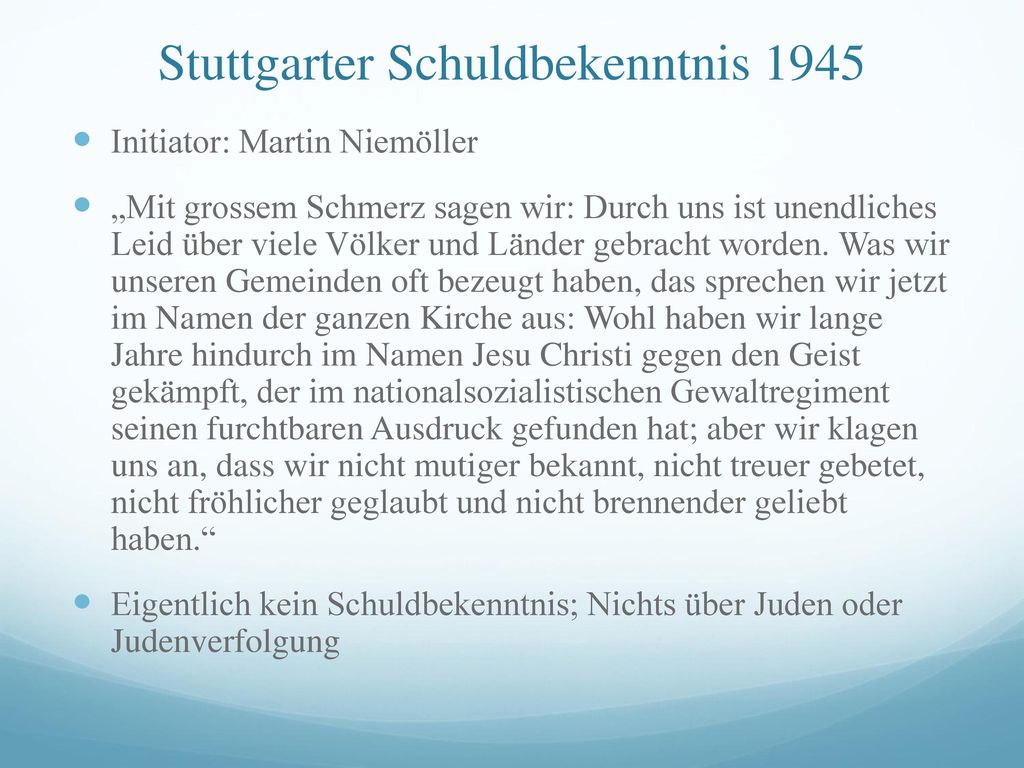 Stuttgarter Schuldbekenntnis 1945