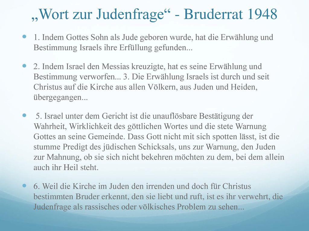 """""""Wort zur Judenfrage - Bruderrat 1948"""