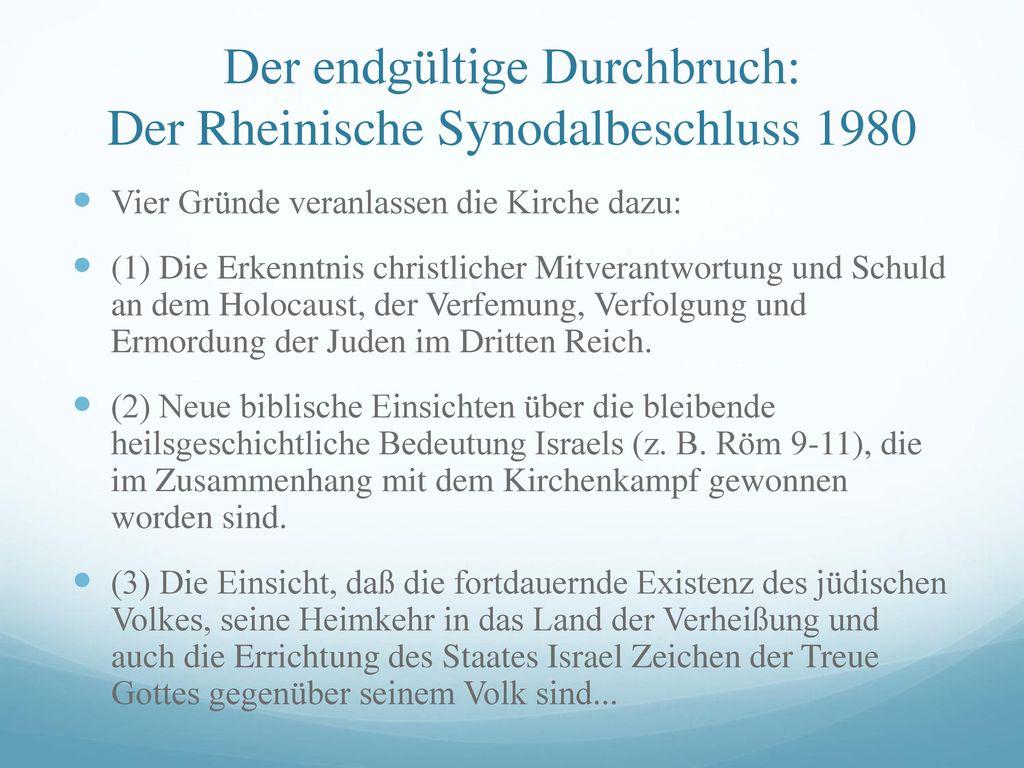 Der endgültige Durchbruch: Der Rheinische Synodalbeschluss 1980