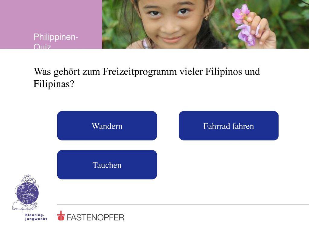 Was gehört zum Freizeitprogramm vieler Filipinos und Filipinas
