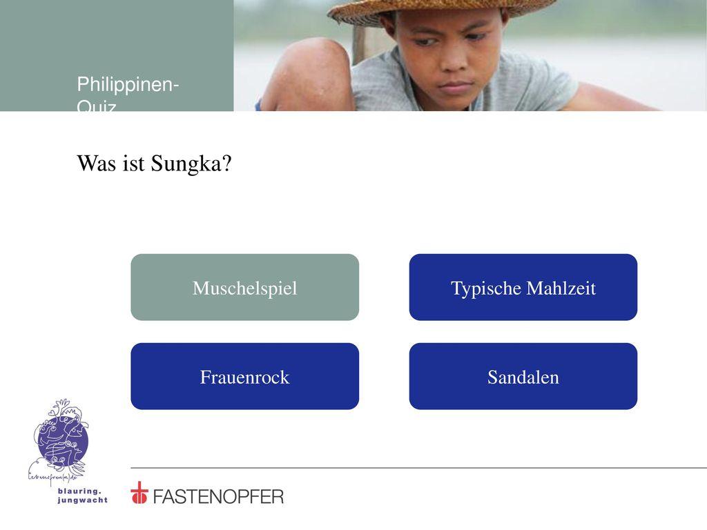 Was ist Sungka Philippinen-Quiz Muschelspiel Typische Mahlzeit