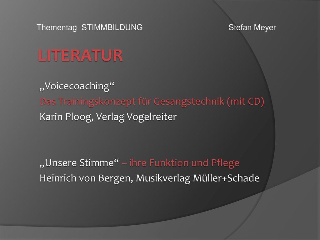 "Literatur ""Voicecoaching"