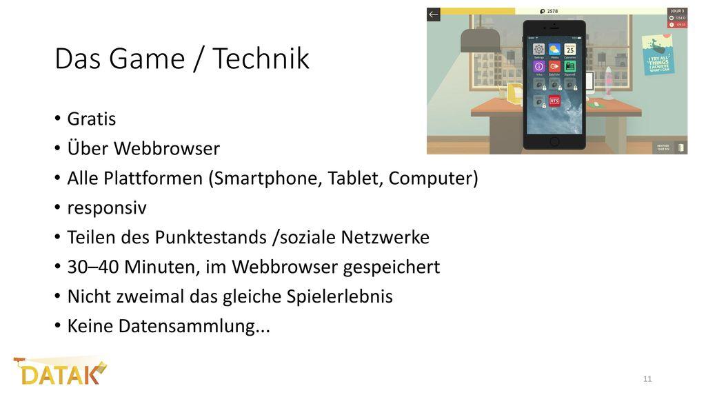 Das Game / Technik Gratis Über Webbrowser