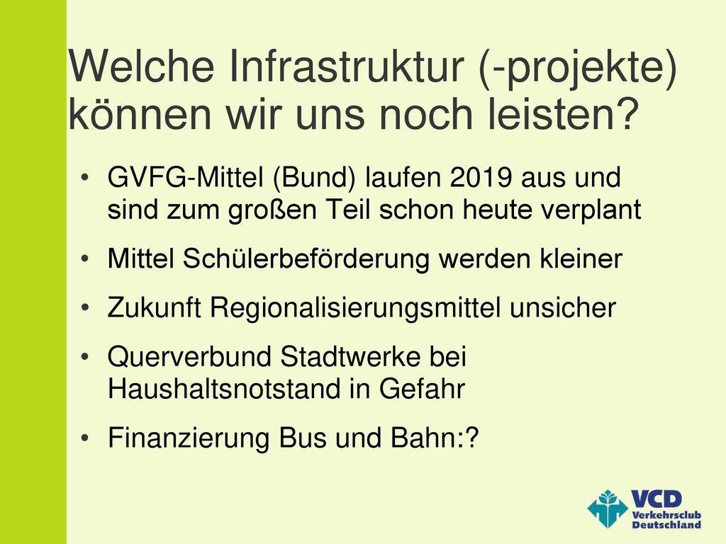Welche Infrastruktur (-projekte) können wir uns noch leisten