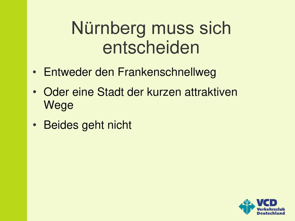 Nürnberg muss sich entscheiden