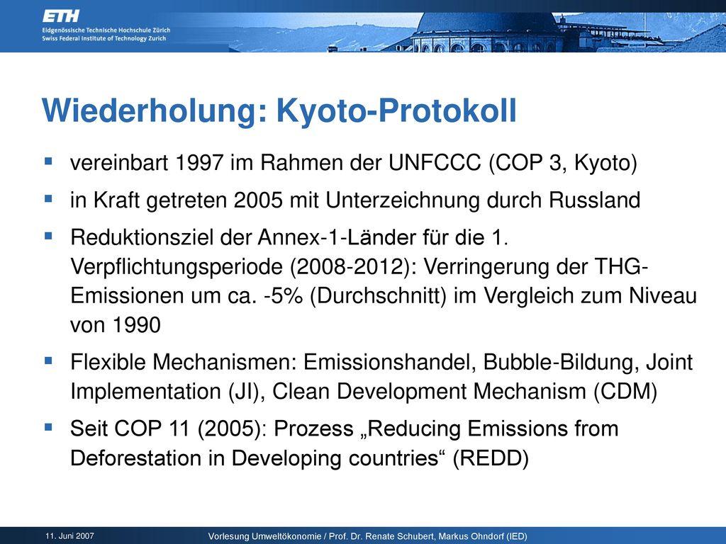 Wiederholung: Kyoto-Protokoll